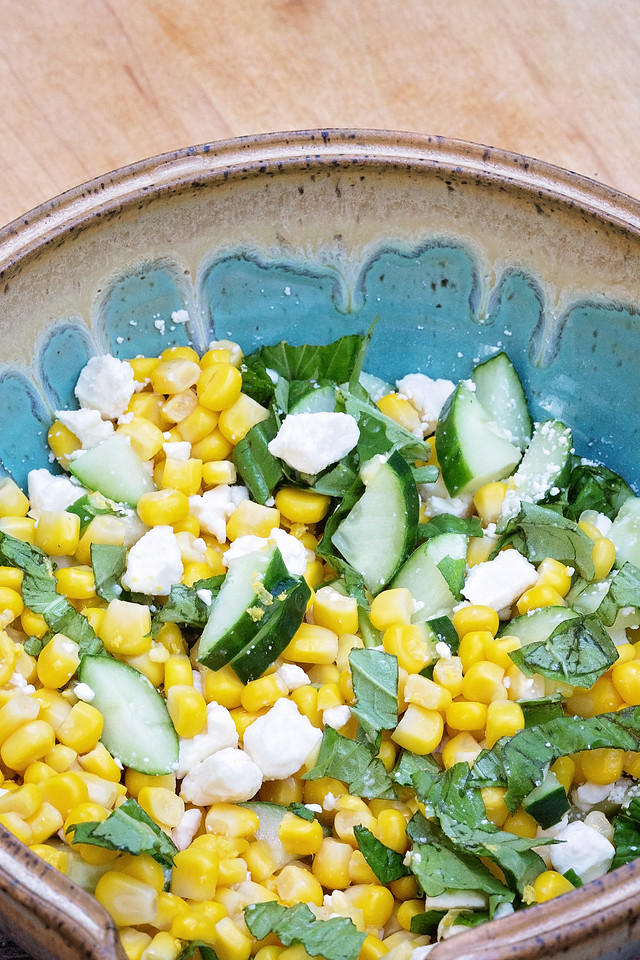 Enter the Food Network Chopped At Home Challenge with this link! Get inspired by my Corn, Cucumber, Feta Salad. Corn is perfect for your entry #ad #DelMonte