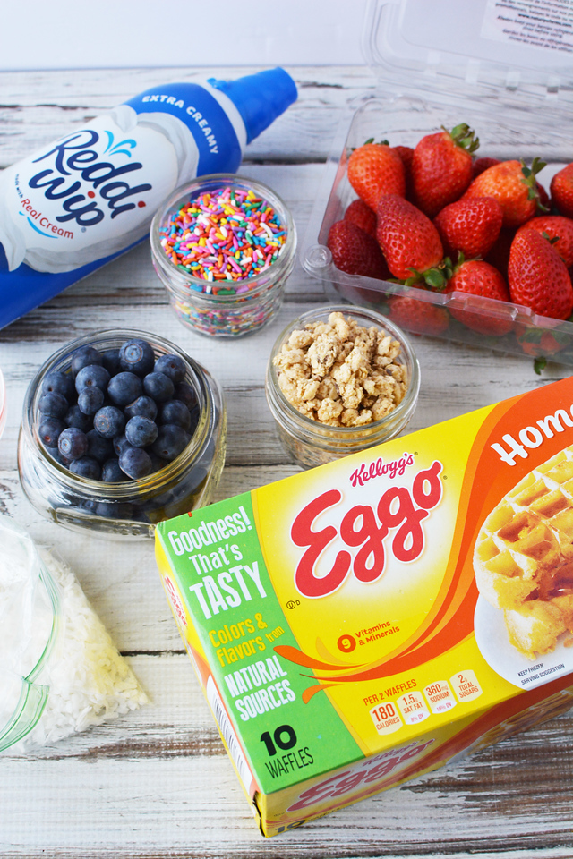 This fun tween girl's Slumber Party Waffle Bar with Eggo and Reddi-Wip from Walmart is how we celebrate Spirit Riding Free. #AddSpirit2Breakfast #Pmedia #ad