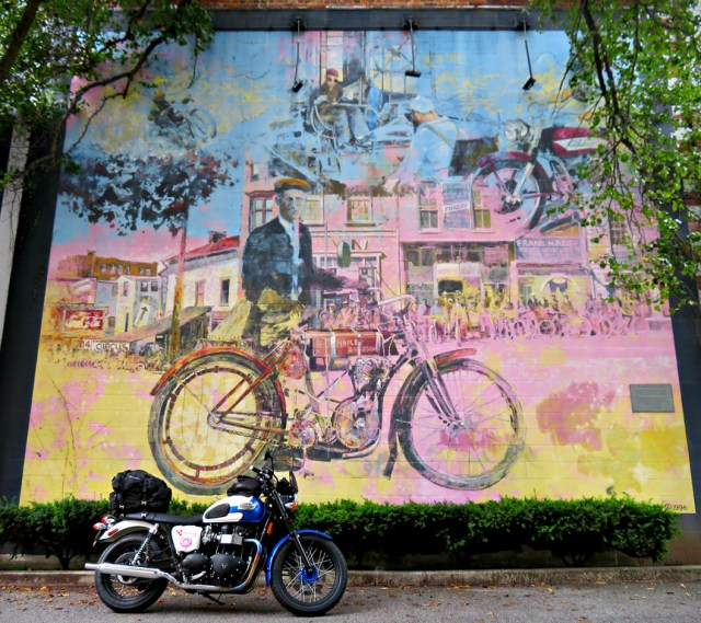 the harley-davidson tradition mural in york, pa