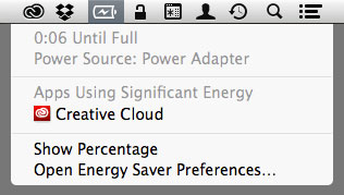 Creative Cloud using significant energy