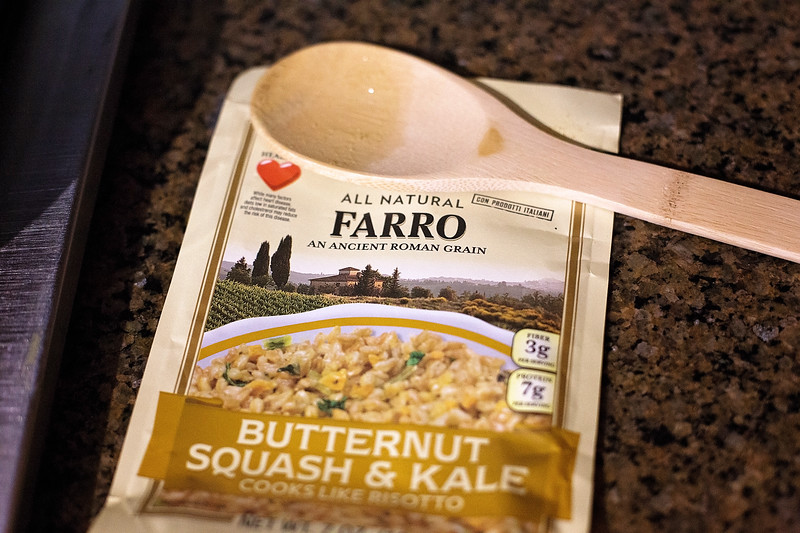 #ad For an easy and delicious dinner, try Alessi Foods Sausage over Kale and Butternut Squash Farro, and Pasta in a Garlic, Butter, Capers sauce #AlessiWay