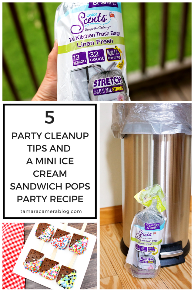Escape the Ordinary this summer season! Check out the strongest, best smelling trash bags for all your seasonal needs, the best party cleanup tips we know, and an awesome recipe for Mini Ice Cream Sandwich Pops. You'll be all ready to throw the greatest party ever, and to have the best cleanup too! #ad #MyColorScents