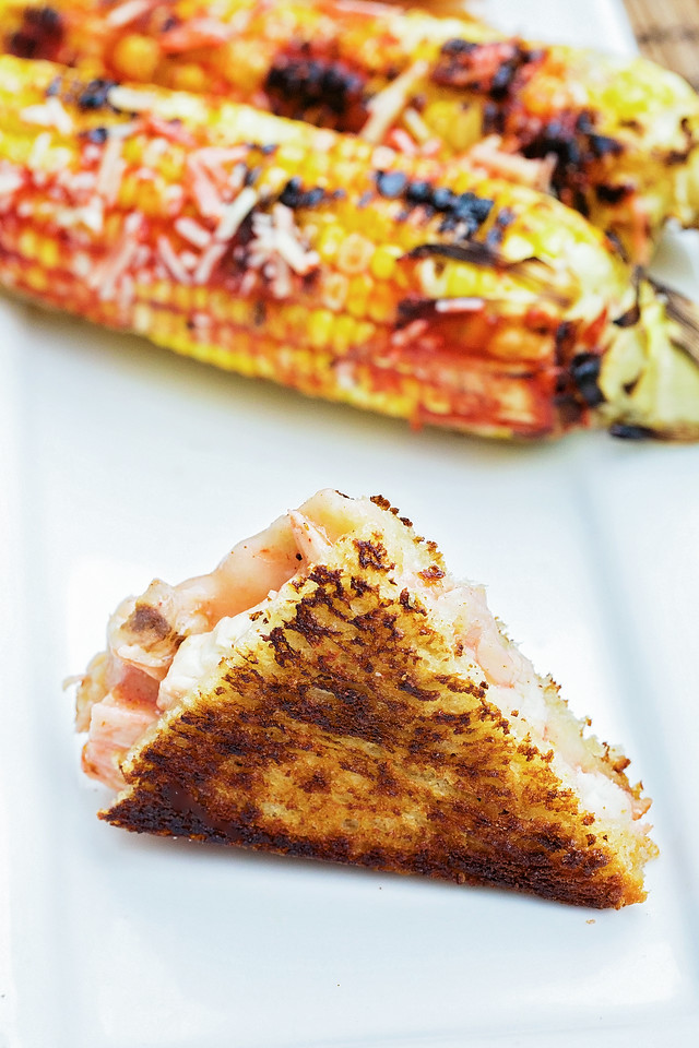Looking for something easy & flavorful to cook on the road? Make my Habanero Chicken Grilled Cheese & Grilled Corn #recipe #KingofFlavor #FlavorRocksNTL #ad