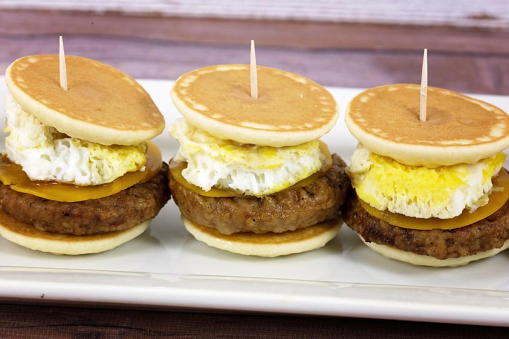 Breakfast Pancake and Sausage Sliders