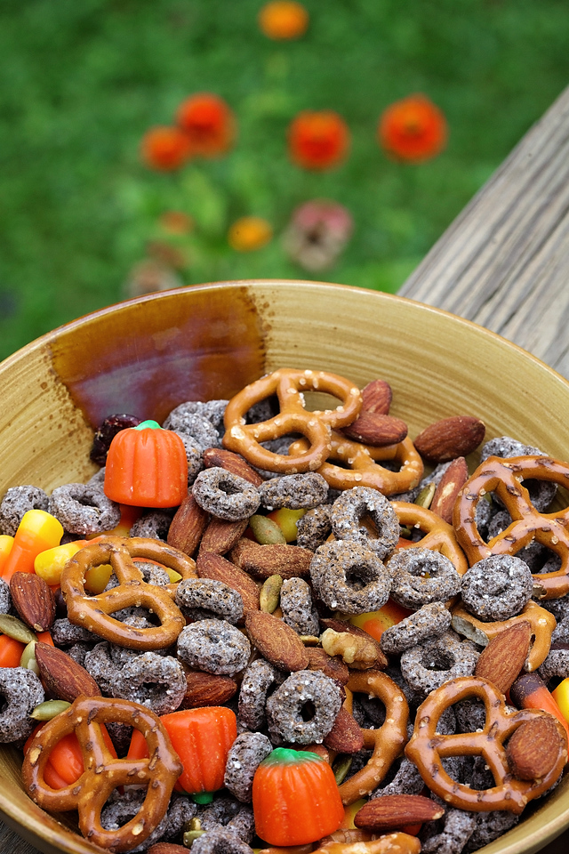 Want to try the #BestCerealEver? I have it with Oreo O's - fun for the WHOLE family! Here find ingredients for our perfect fall snack mix for on the go! #ad