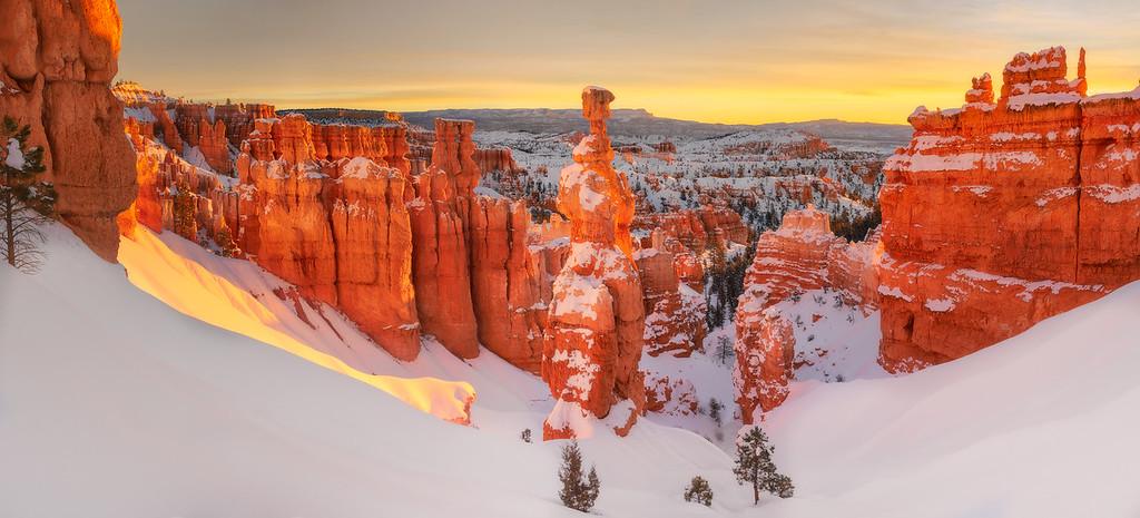 Bryce Canyon National Park Snowfall