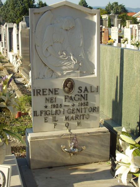 Irene Sali grave