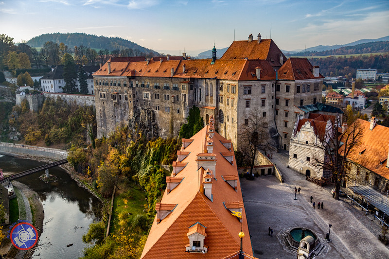 The Inner Courtyard of Cesky Krumlov Castle as Seen from the Castle Tower (©simon@myeclecticimages.com)