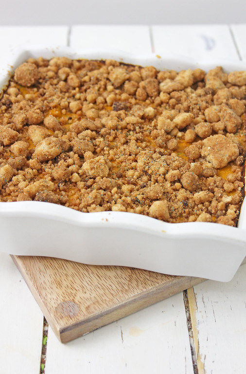 Shortbread Streusel Pumpkin Squares are PERFECT! A recipe for a quick homemade dessert, with a crunchy crust and cinnamon streusel that melts in your mouth.