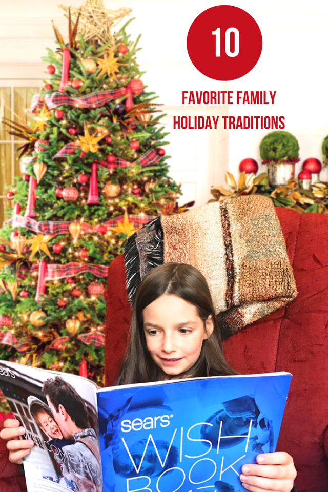 It's officially holiday season! Here are our ten family holiday traditions - starting with Black Friday. We love to start with the Sears #WishBook! #AD #IC