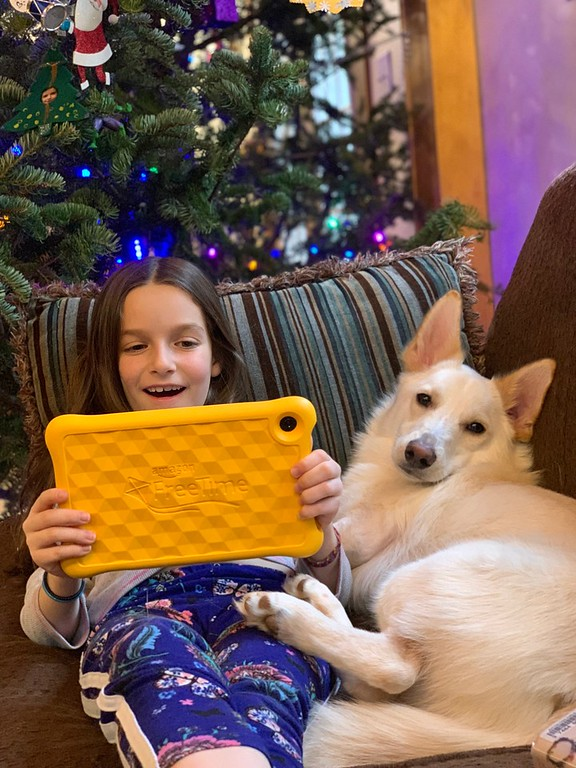 There are holiday traditions that are special to our family. Here's 5 traditions we enjoy on our Fire HD 8 Kids Edition Tablet! #ad #AmazonKidsandFamily #IC