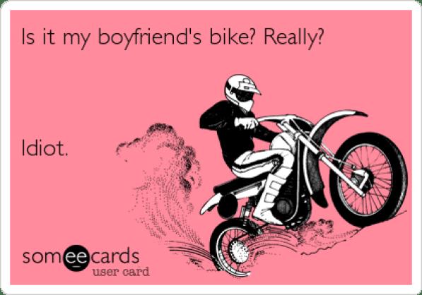 my boyfriends bike meme