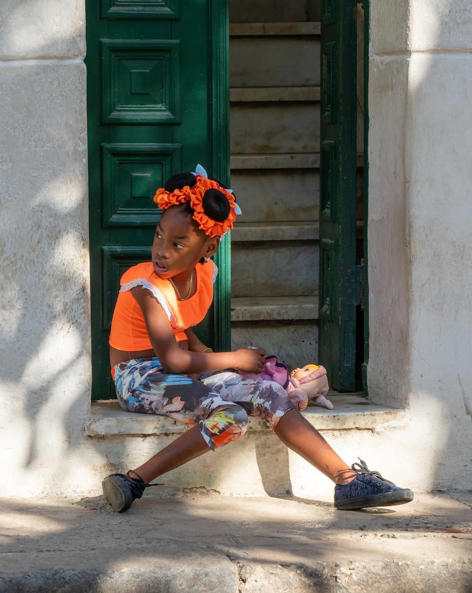 This girl likes orange