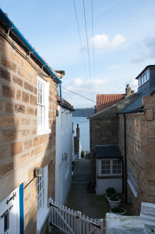 One of many alleys in Runwswick Bay