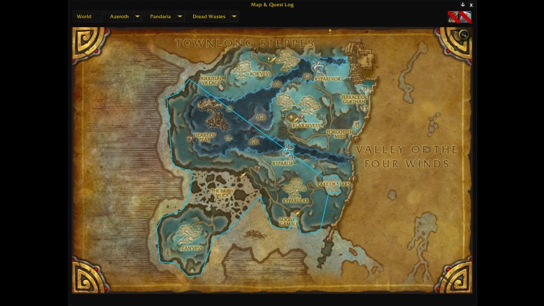 fishing route in dread wastes