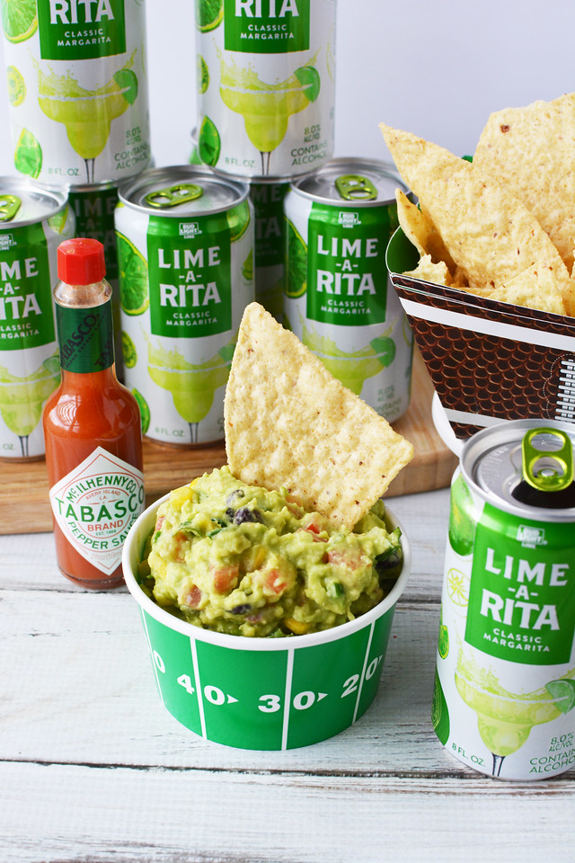 My Loaded Guacamole #recipe is fresh, delicious, spicy and perfect for Game Day #ad #SavorWinningFlavors #AvocadosFromMexico #HAVEARITA AND #FlavorYourWorld