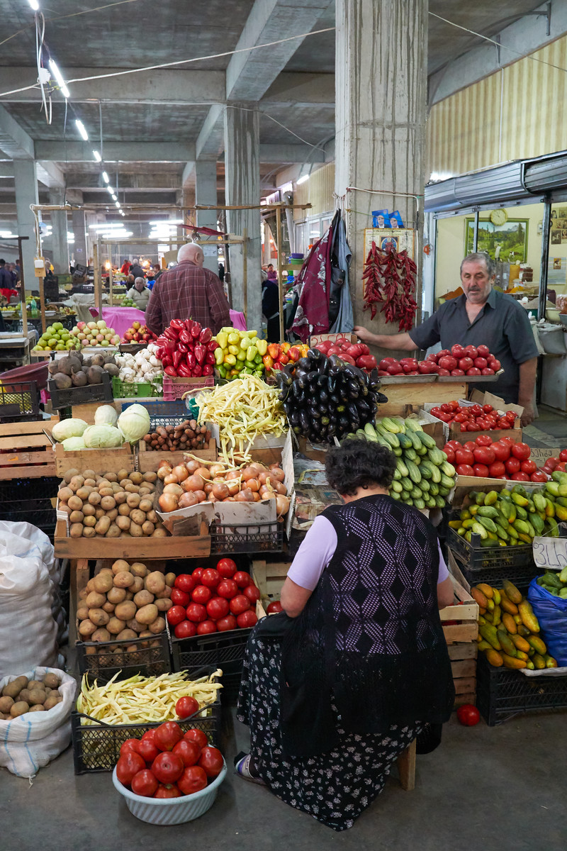 Vegetable sellers in Kutaisi