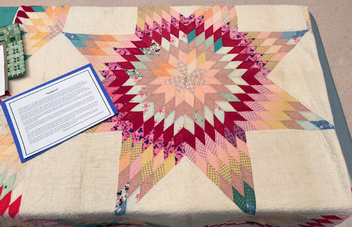Ida Grady's Sunburst quilt on display at the WSU Women's Center Quilt Show, Jan. 30, 2015
