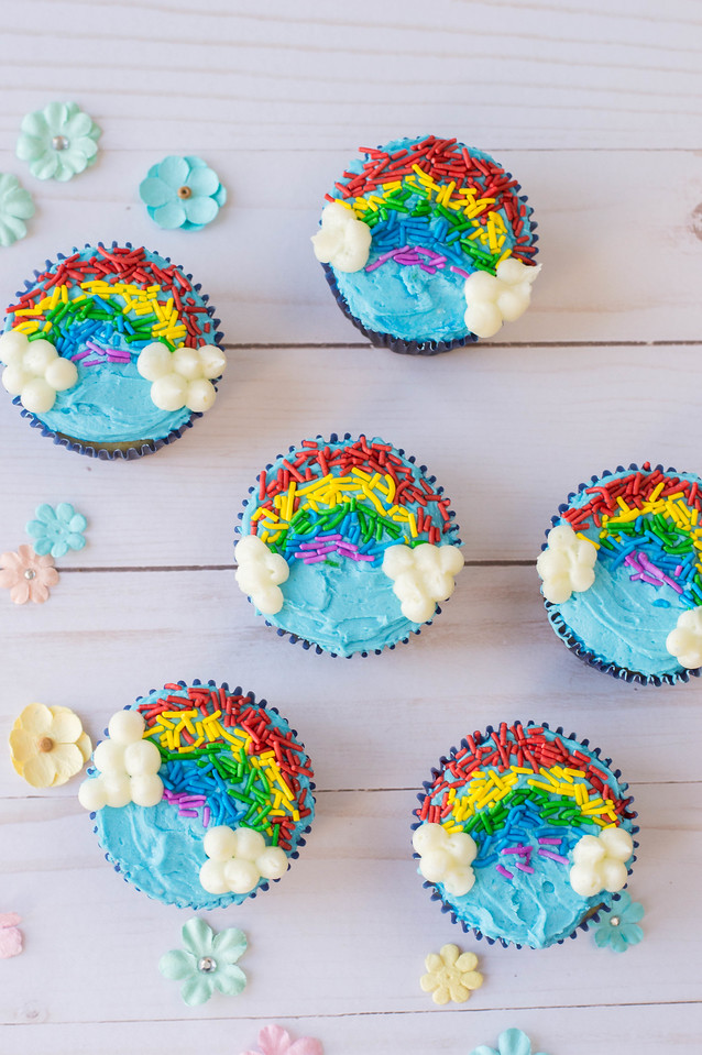 These rainbow cupcakes are the most cheerful, delightful, and delicious cupcakes you'll make! Try them for every festive occasion, or just because