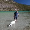 Thor is still getting used to swimming. He seems to like the water but doesn't quite get the doggie paddle thing yet.