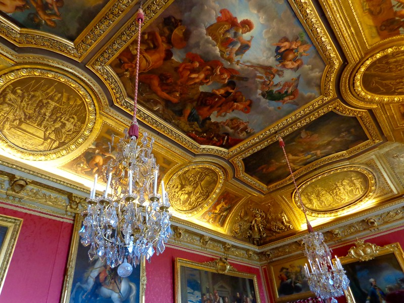 A strategic shot of the ceiling in one of the salons of Versailles. Photo credit: Michelle Vogel