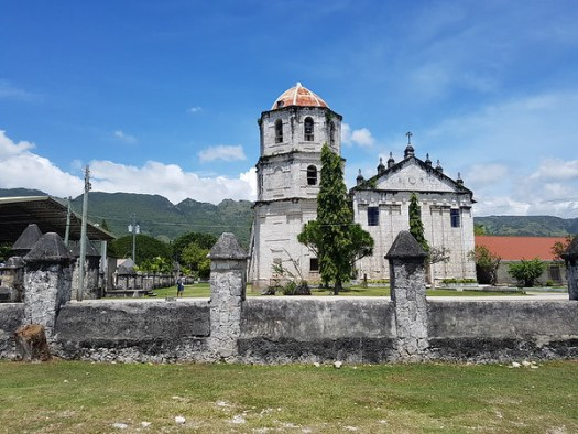 The impressive colonial era church built by the Spanish