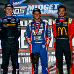 Top 3 Cannon  McIntosh Justin Grant Kyle Larson