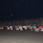 The parade lap for the Modified race.