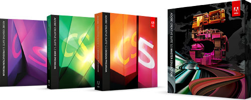 Adobe Creative Suite 5.5 box shots