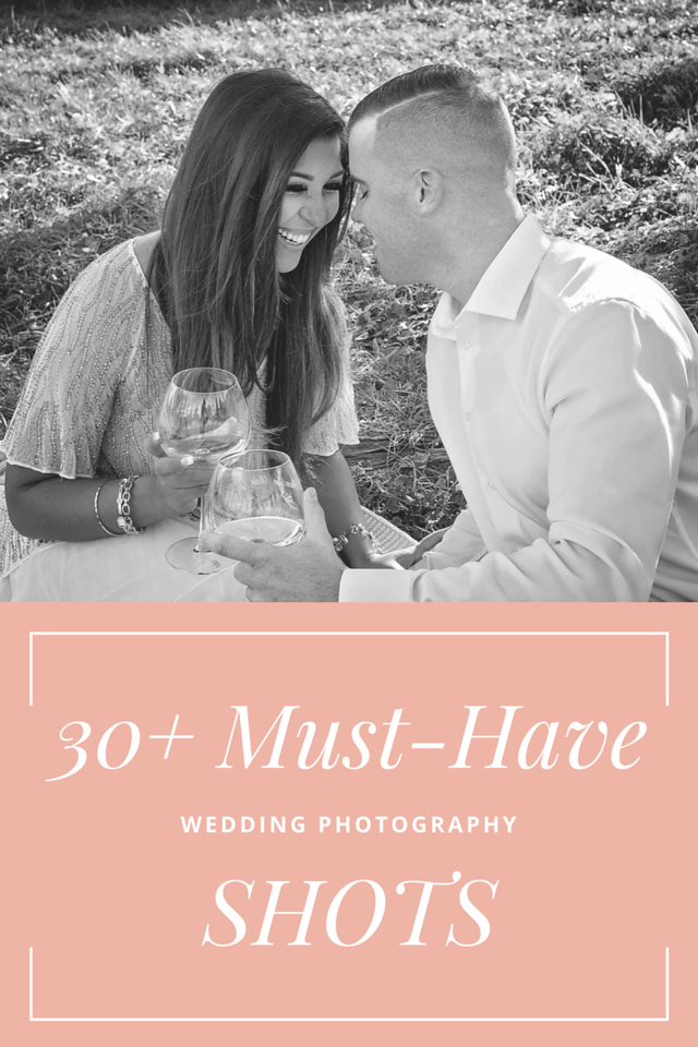 I have compiled 30+ must-have #wedding #photography shots - whether you're getting married, or photographing a wedding. You can make your own checklist too!