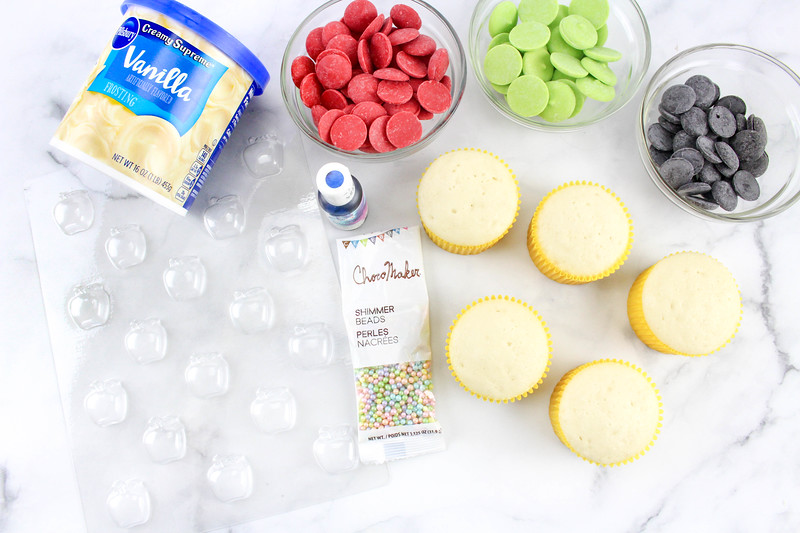 ingredients for disney princess cupcakes