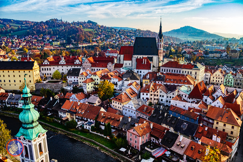 A View of Cesky Krumlov from the Castle Tower (©simon@myeclecticimages.com)