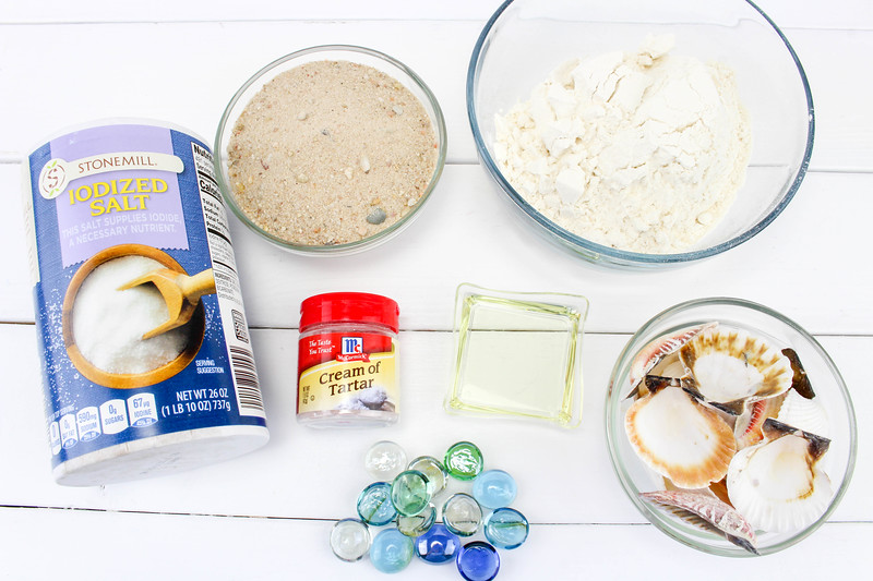 ingredients needed for beach play dough