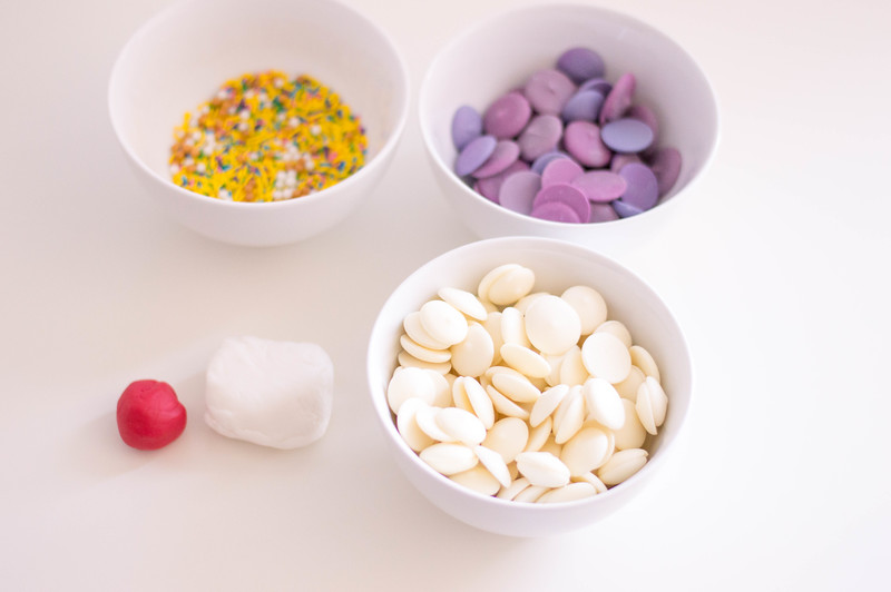 ingredients for unicorn bark recipe