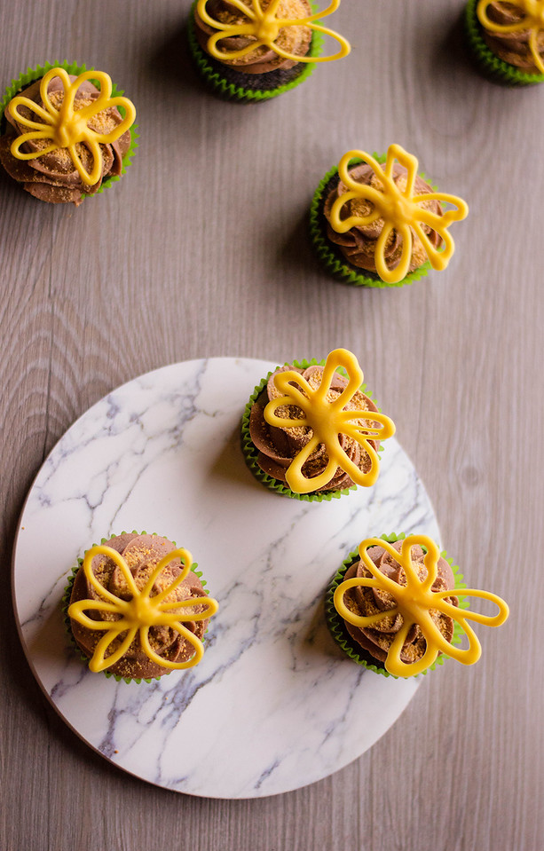 These Chocolate Floral Cupcakes are SO pretty and can be used for spring, for Mother's Day, for birthdays, for summer, and even for fall. (Or winter, if you so desire) And they're delicious!