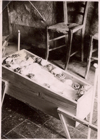 baby girl in casket