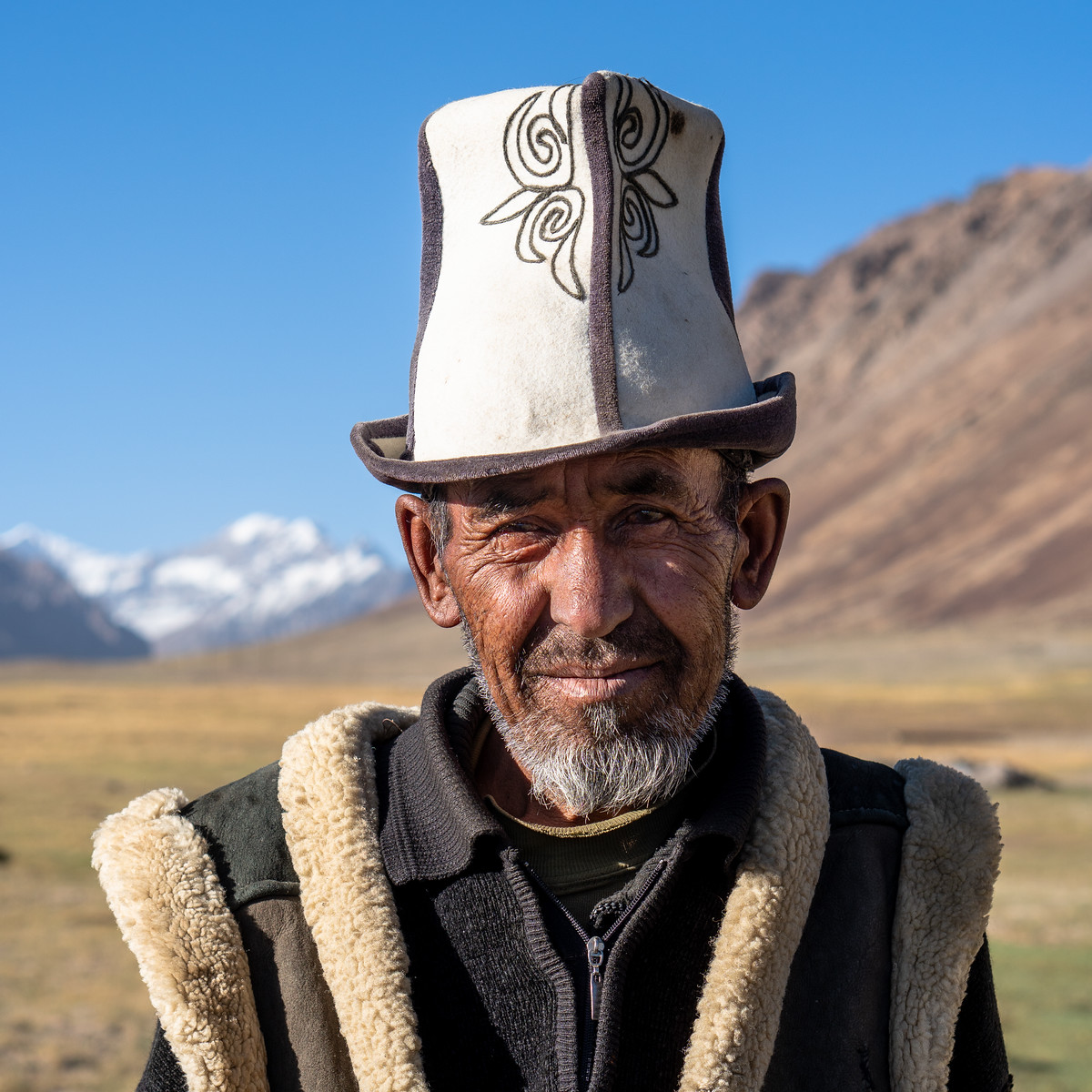 Portrait of a Kyrgyz nomad