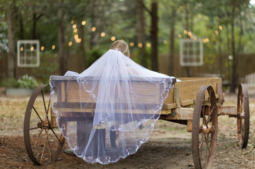 Photographed in December.  When the wedding venue gives you fun items, such as a wagon, make sure you don't ignore them.