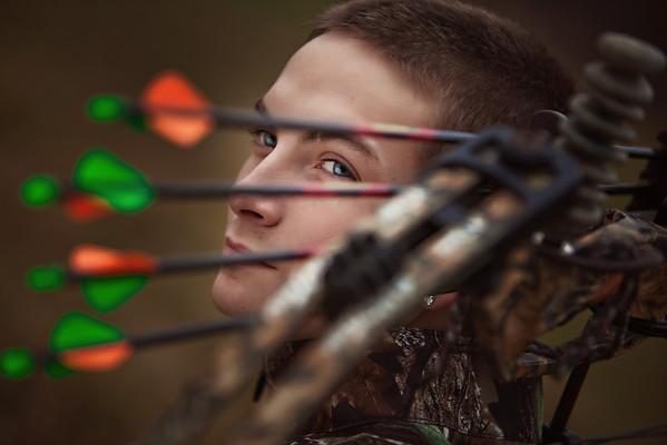 Archery senior portrait by Amanda Reed