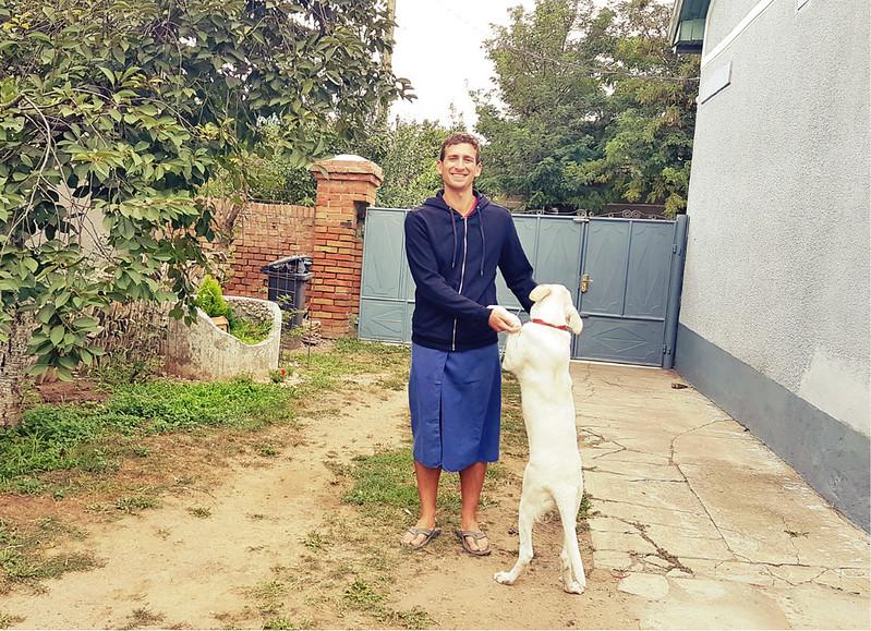 Full-time traveler - jumper and travel towel
