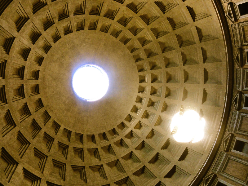 Dome of the Pantheon in Rome. Photo Credit: Lisa Grabelle