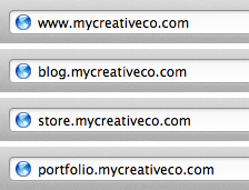Example of using subdomains