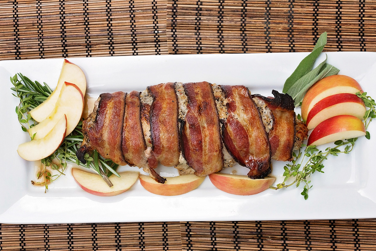 Bacon-Wrapped Smithfield Marinated Fresh Pork