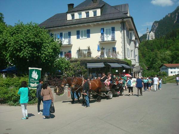 Fussen horse and cart trip to castle Fussen