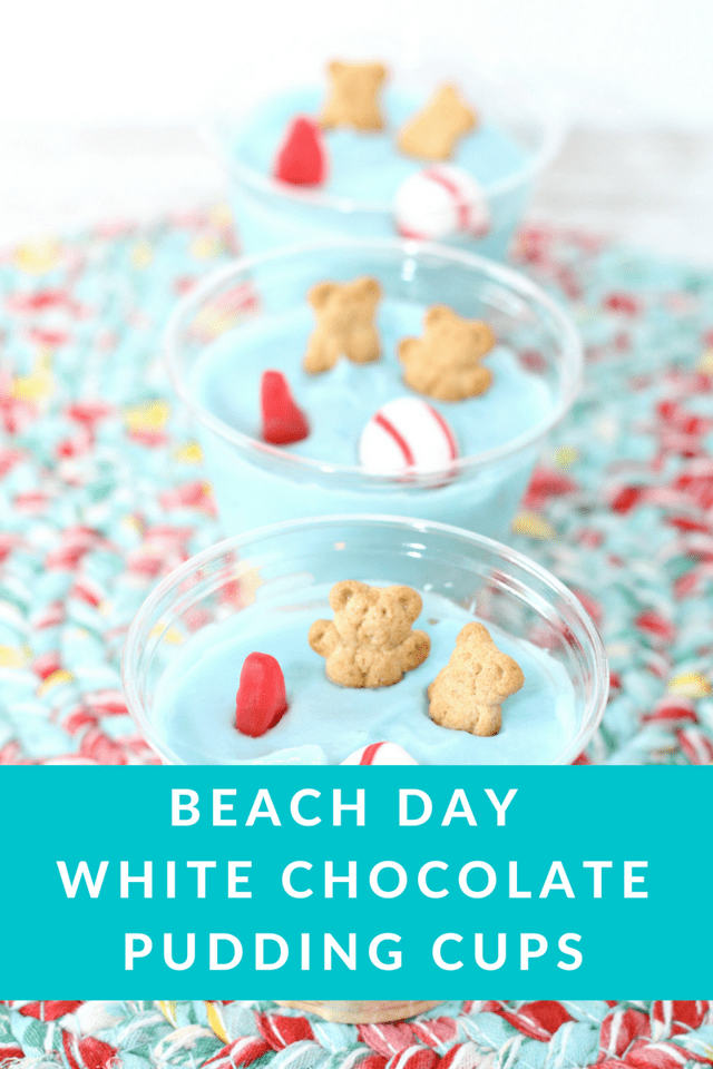 Life should always be like a day at the beach. These Beach Day White Chocolate Pudding Cups are simple, easy and inspiring. Also, they're delicious! #recipe