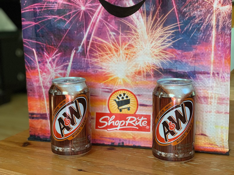 A&W Root Beer and ShopRite fireworks reusable bag