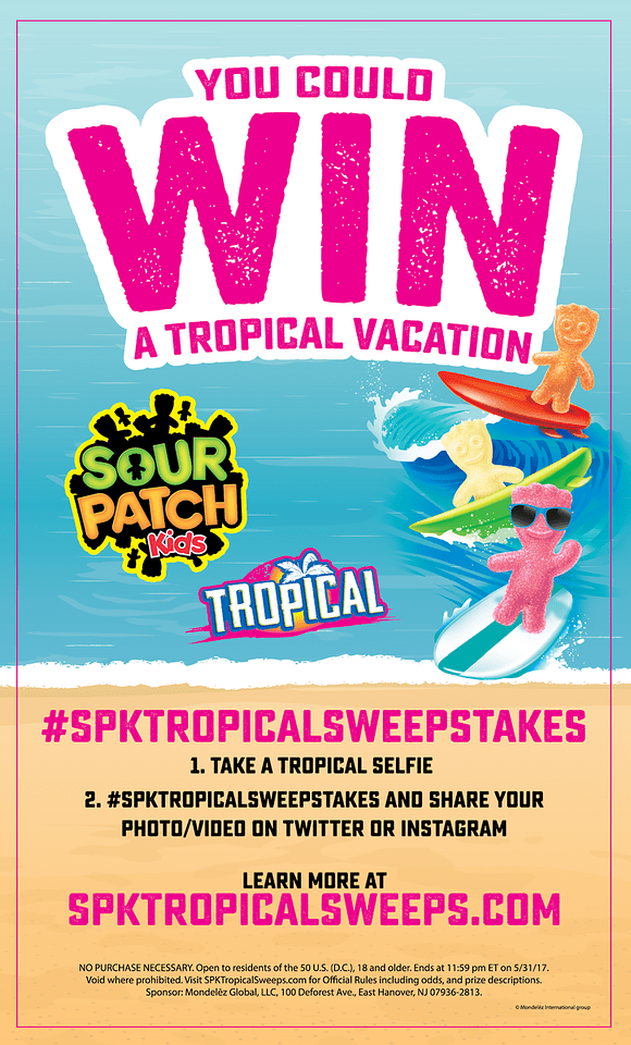Hawaii is calling! Looking for a vacation this summer? Look no further! Enter the SOUR PATCH Kids Tropical Vacation Sweepstakes. #spktropicalsweepstakes #ad