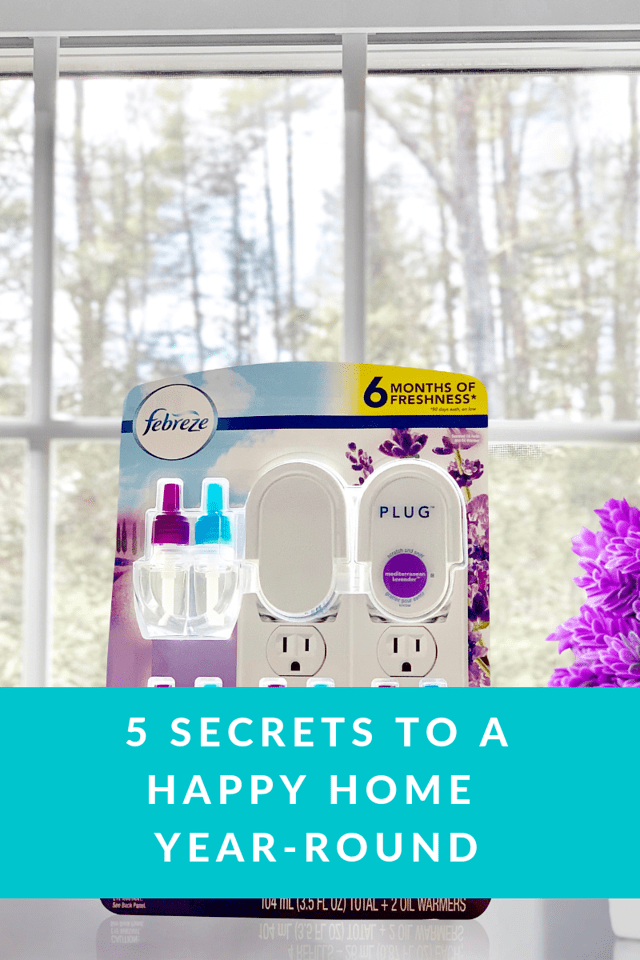 Do you know the secrets to a happy home? Here's #1! A happy home is fresh and clean and smells good too. Find out the other four here #ad #FebrezeAtSamsClub
