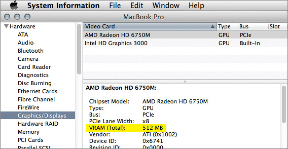 Does your Mac graphics card have enough video memory