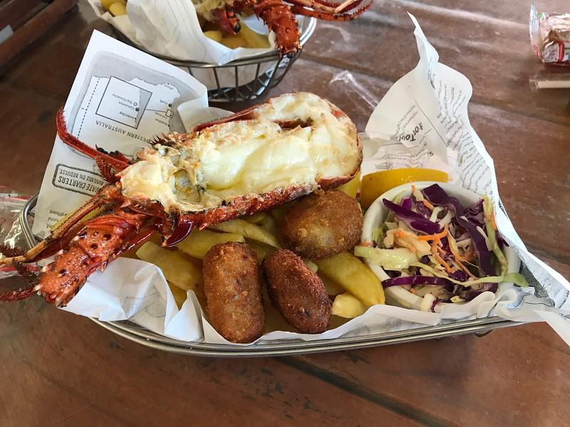 Lobster Shack Cervantes Lobster Lunch